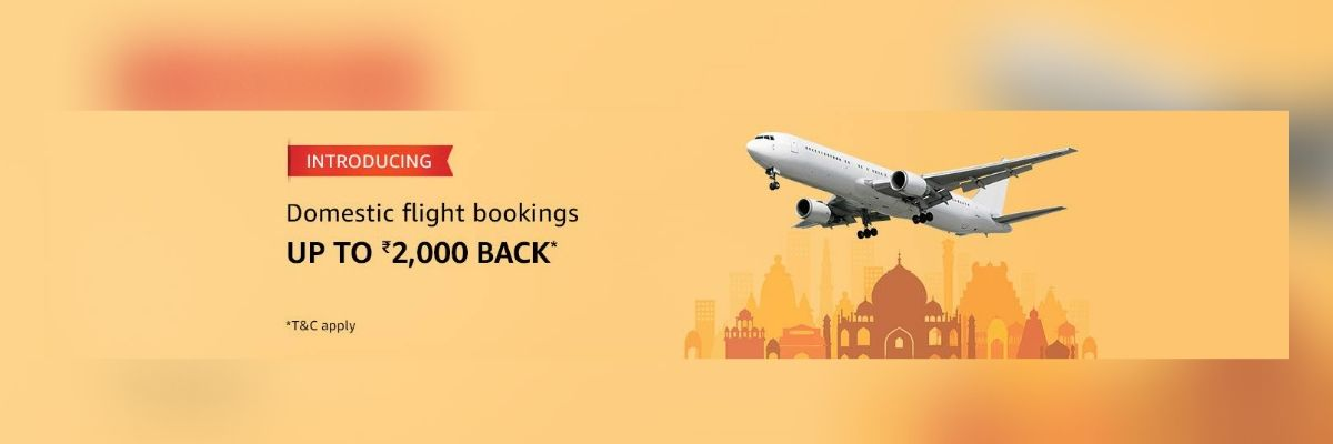 Amazon Pay Domestic Flight Booking Offers