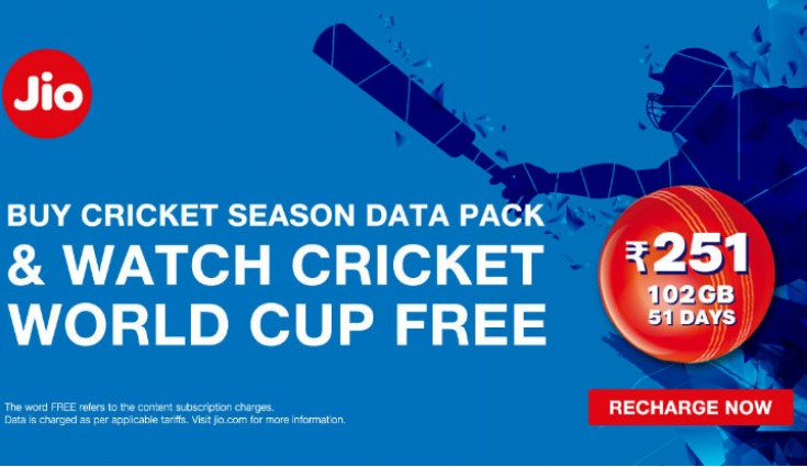 Jio World Cup Offer