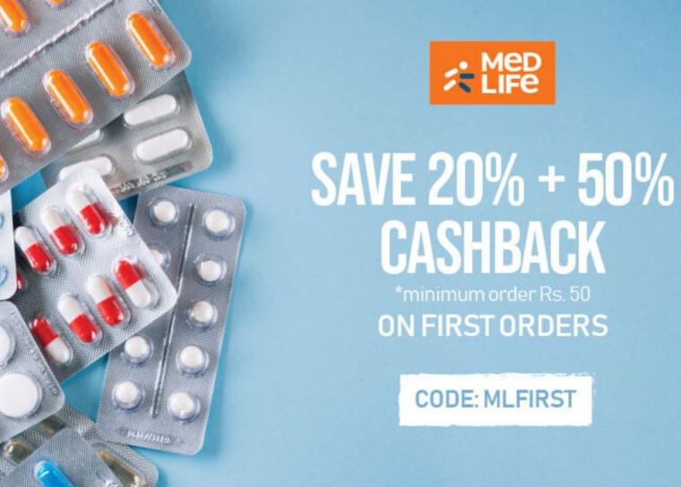 Medlife - Get Flat 20% OFF On Medicines