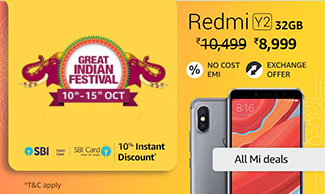 Redmi Y2 - Get upto Rs.2500 OFF !!