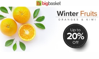 Flat 20% OFF On Organic Fruits & Vegetables