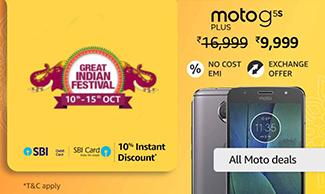 Get Upto Rs.7000 OFF on Motorola Smartphones - Amazon Great Indian Festival