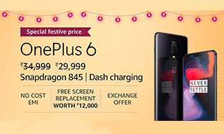 Buy OnePlus 6 at Rs.29,999 !!!