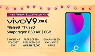 Lowest Prices on Vivo Smartphones at Amazon Great Indian Festival.
