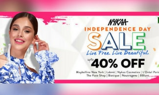 Nykaa Freedom Sale - Flat 40% OFF + Extra Rs 300 SuperCash On Beauty Products